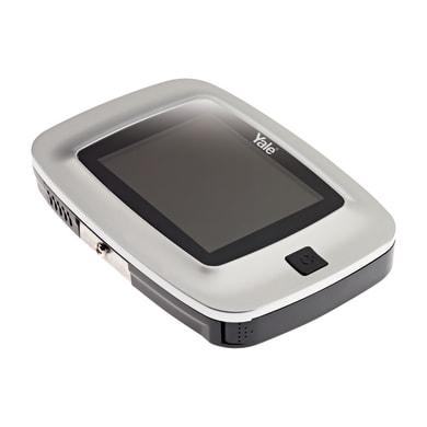 Spioncino digitale per porta blindata YALE recording argento