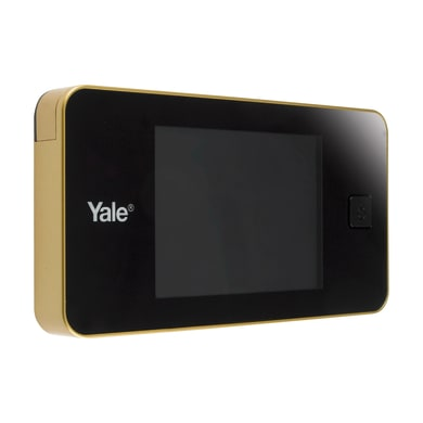 Spioncino digitale per porta blindata YALE DDV Standard ottone