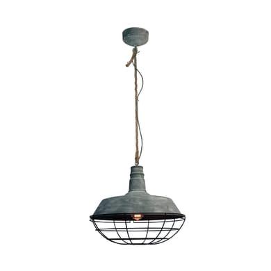 Lampadario Industriale Rope grigio in metallo, D. 47 cm, BRILLIANT