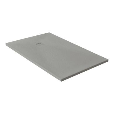 Piatto doccia ultrasottile resina Cosmos Stone 100 x 120 cm grigio