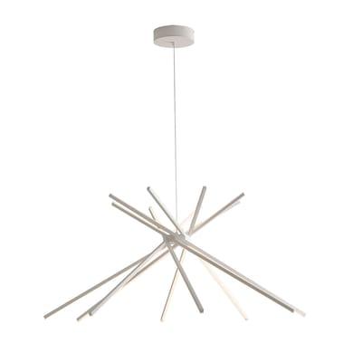 Lampadario Shanghai bianco, in metallo, diam. 113 cm, LED integrato 50W 3000LM IP20