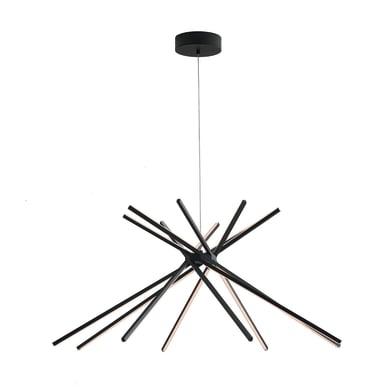 Lampadario Shanghai nero, in metallo, diam. 113 cm, LED integrato 50W 4500LM IP20