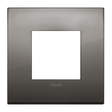 Placca VIMAR Arké 2 moduli cromo nero