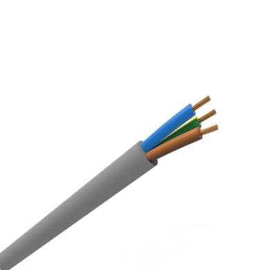 Cavo elettrico 3 fili x 1,5 mm² vendita al metro grigio