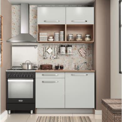 Cucina in kit one bianco L 120 cm