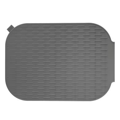 Tappeto per lavello silicone grigio L 39 x H 27 cm