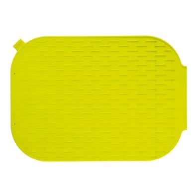 Tappeto per lavello silicone verde L 27 x H 0.4 cm