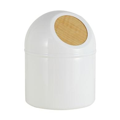 Pattumiera da bagno push SENSEA legno chiaro 1 Lin metallo