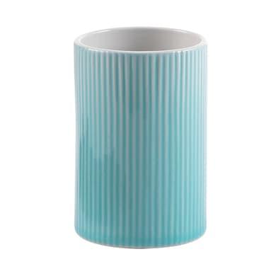 Bicchiere porta spazzolini Sabina in ceramica verde
