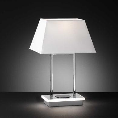 Lampada da tavolo Design Torquay cromato lucido , WOFI