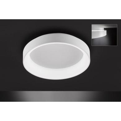 Plafoniera design Shay LED integrato bianco, in metallo,  D. 59 cm 59x59 cm, WOFI