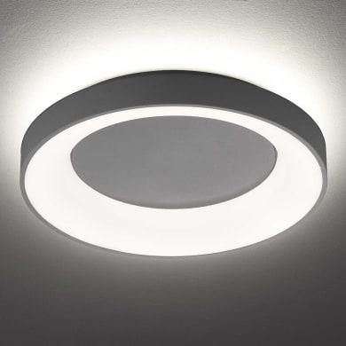 Plafoniera design Shay LED integrato grigio, in metallo,  D. 59 cm 59x59 cm, WOFI