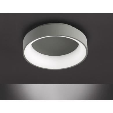 Plafoniera design Shay LED integrato grigio D. 45 cm 45x45 cm, WOFI