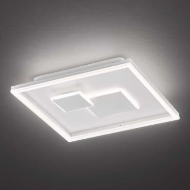 Plafoniera design Nandra LED integrato bianco D. 41 cm 41x41 cm, WOFI