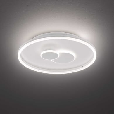 Plafoniera design Nandra LED integrato bianco D. 40 cm 40x40 cm, WOFI