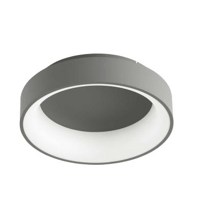Plafoniera design Shay LED integrato grigio, in metallo,  D. 39 cm 39x39 cm, WOFI