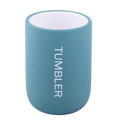 Bicchiere porta spazzolini Remix in ceramica blu
