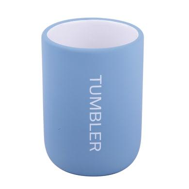 Bicchiere porta spazzolini Remix in ceramica azzurro