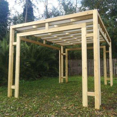 Gazebo legno PERGOLA SINTESI 310X310CM bianco L 86 cm x P 310 cm, H 2.52 m