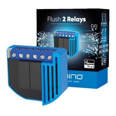 Trasmettitore Qubino Flush 2 Relay,  on/off  e consumi