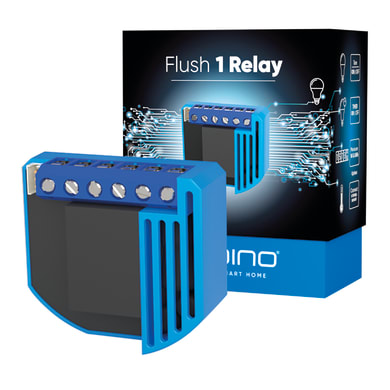 Trasmettitore Qubino Flush 1 Relay,  on/off  e consumi