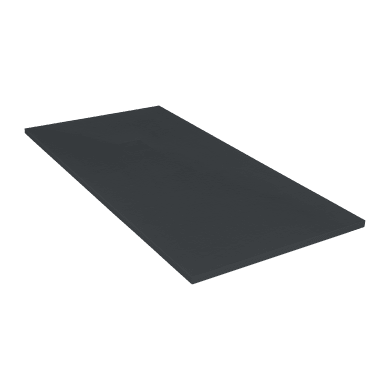 Piatto doccia ultrasottile resina Cosmos Stone 100 x 180 cm nero