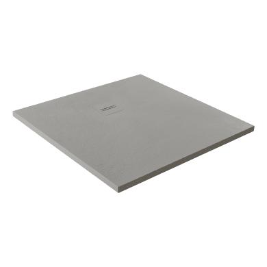 Piatto doccia ultrasottile resina Cosmos Stone 100 x 120 cm nero