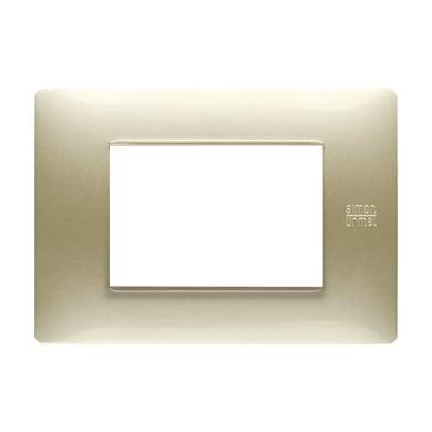 Placca Nea Flexa SIMON URMET 3 moduli oro satinato