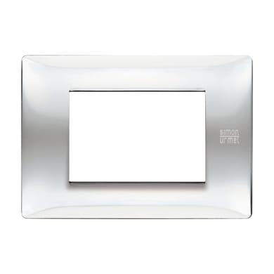 Placca SIMON URMET Nea Flexa 3 moduli inox lucido
