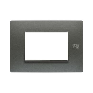 Placca Nea Flexa SIMON URMET 3 moduli grafite