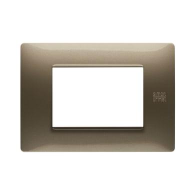 Placca Nea Flexa SIMON URMET 3 moduli bronzo