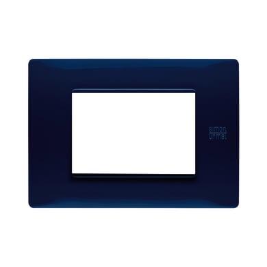 Placca Nea Flexa SIMON URMET 3 moduli blu