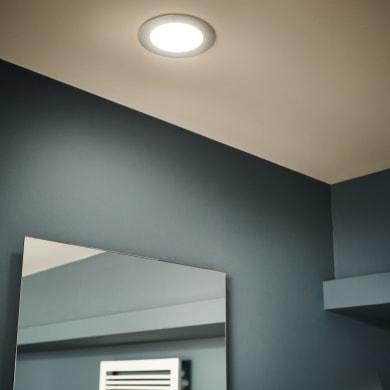 Faretto fisso da incasso tondo Ex.bath  in Alluminio nichel, diam. 12 cm LED integrato 900LM IP44 INSPIRE