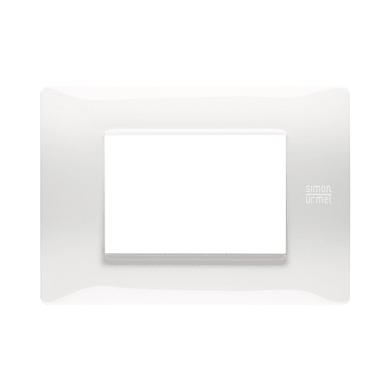 Placca Nea Flexa SIMON URMET 3 moduli bianco ghiaccio