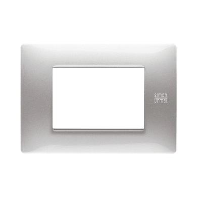Placca Nea Flexa SIMON URMET 3 moduli alluminio