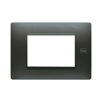 Placca Nea Flexa SIMON URMET 3 moduli acciaio scuro