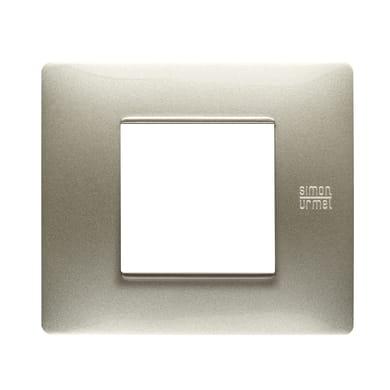 Placca Nea Flexa SIMON URMET 2 moduli titanio