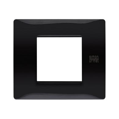 Placca Nea Flexa SIMON URMET 2 moduli nero assoluto