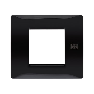 Placca SIMON URMET Nea Flexa 2 moduli nero assoluto