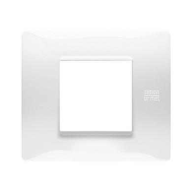 Placca Nea Flexa SIMON URMET 2 moduli bianco ghiaccio