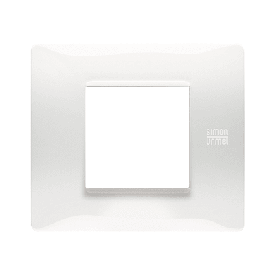 Placca SIMON URMET Nea Flexa 2 moduli bianco ghiaccio