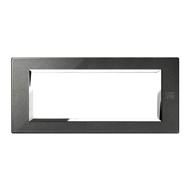 Placca SIMON URMET Nea Expì 6 moduli nero grafite