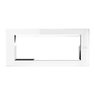 Placca SIMON URMET Nea Expì 6 moduli bianco perla