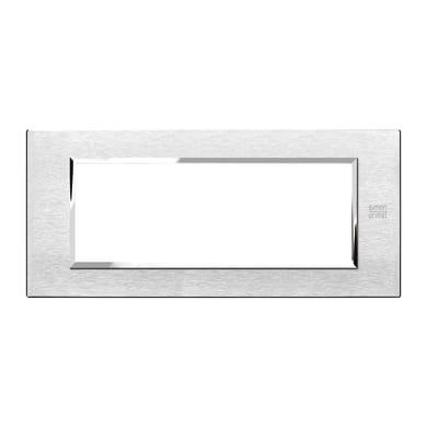 Placca SIMON URMET Nea Expì 6 moduli alluminio satinato