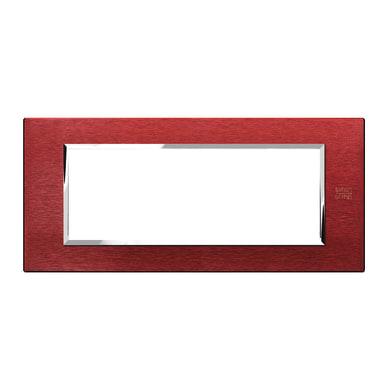 Placca SIMON URMET Nea Expì 6 moduli alluminio rosso