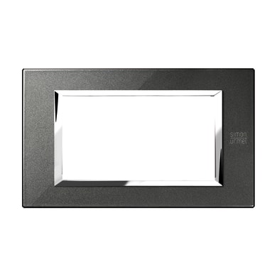 Placca SIMON URMET Nea Expì 4 moduli nero grafite