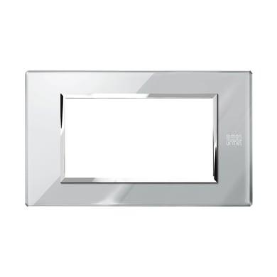 Placca SIMON URMET Nea Expì 4 moduli grigio opale