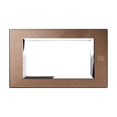 Placca SIMON URMET Nea Expì 4 moduli bronzo lucido