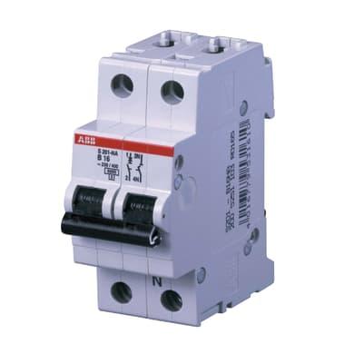 Interruttore magnetotermico ABB ELS201L-C10NA 1P+N 10A C 2 moduli 230V