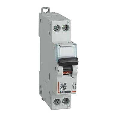 Interruttore magnetotermico BTICINO FN881C16 1P +N 16A 6kA C 1 modulo 230V